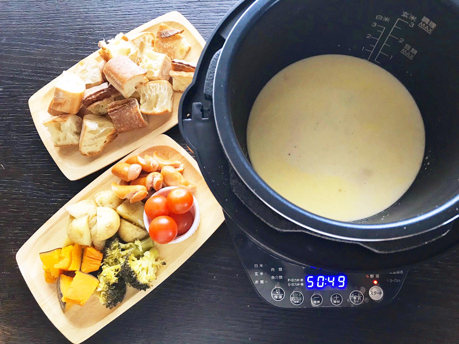 チーズ フォンデュ 材料
