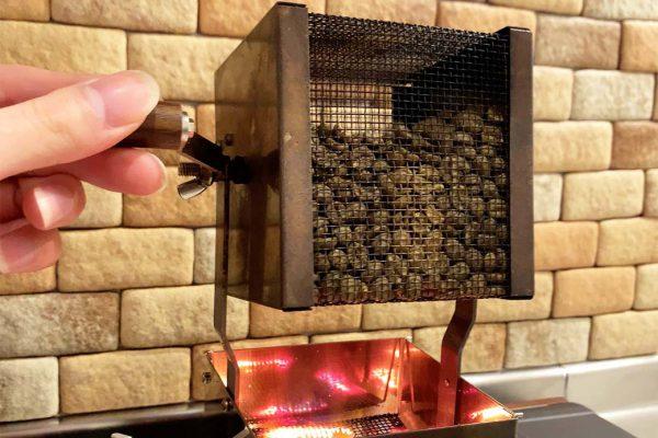 自宅焙煎 煙