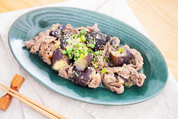 牛肉とナスの胡麻味噌煮